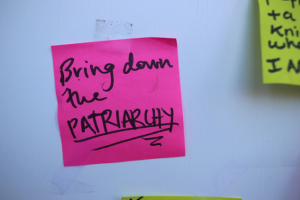 Bring down the patriarchy sticky note